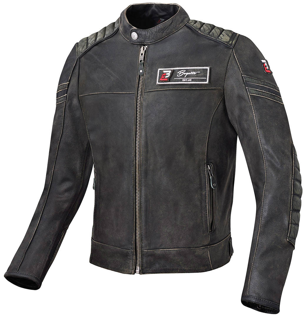 Bogotto Detroit Motorrad Lederjacke, Größe 58, Größe 58