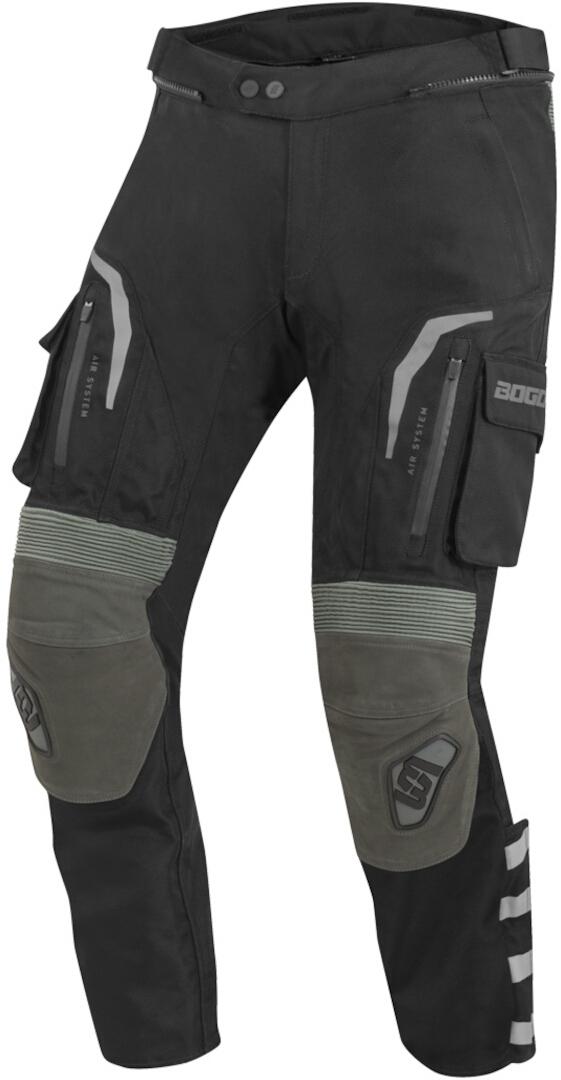 Bogotto Explorer-Z wasserdichte Motorrad Leder / Textilhose, schwarz-grün, Größe XL, schwarz-grün, Größe XL