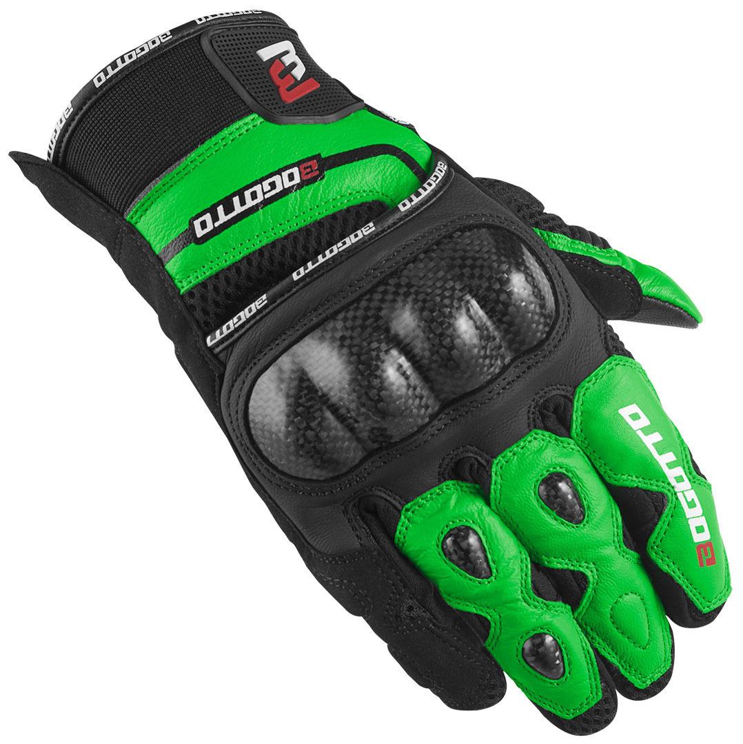 Bogotto Flint Motorradhandschuhe, schwarz-grün, Größe L, schwarz-grün, Größe L