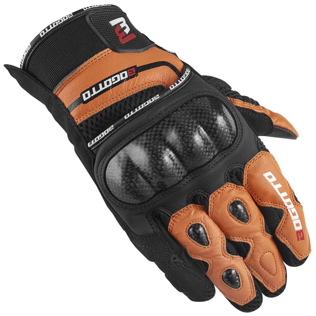 Bogotto Flint Motorradhandschuhe, schwarz-orange, Größe M, schwarz-orange, Größe M
