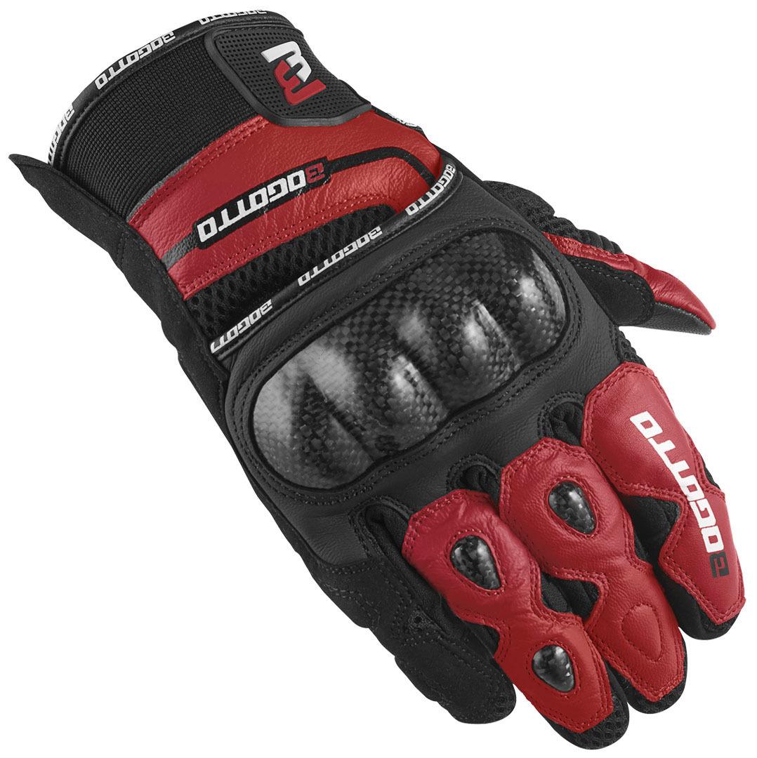 Bogotto Flint Motorradhandschuhe, schwarz-rot, Größe L, schwarz-rot, Größe L