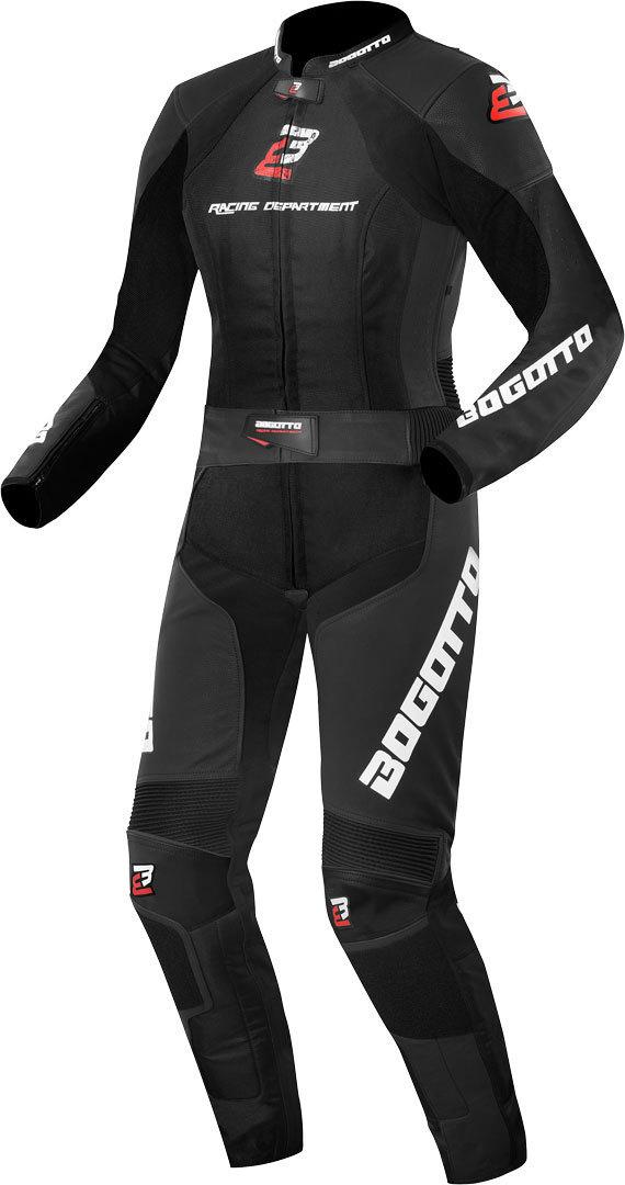 Bogotto Losail 2-Teiler Damen Motorrad Lederkombi, schwarz, Größe 34, schwarz, Größe 34