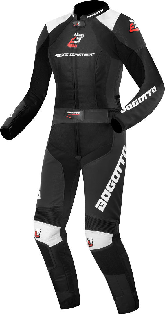 Bogotto Losail 2-Teiler Damen Motorrad Lederkombi, schwarz-weiss, Größe 34, schwarz-weiss, Größe 34