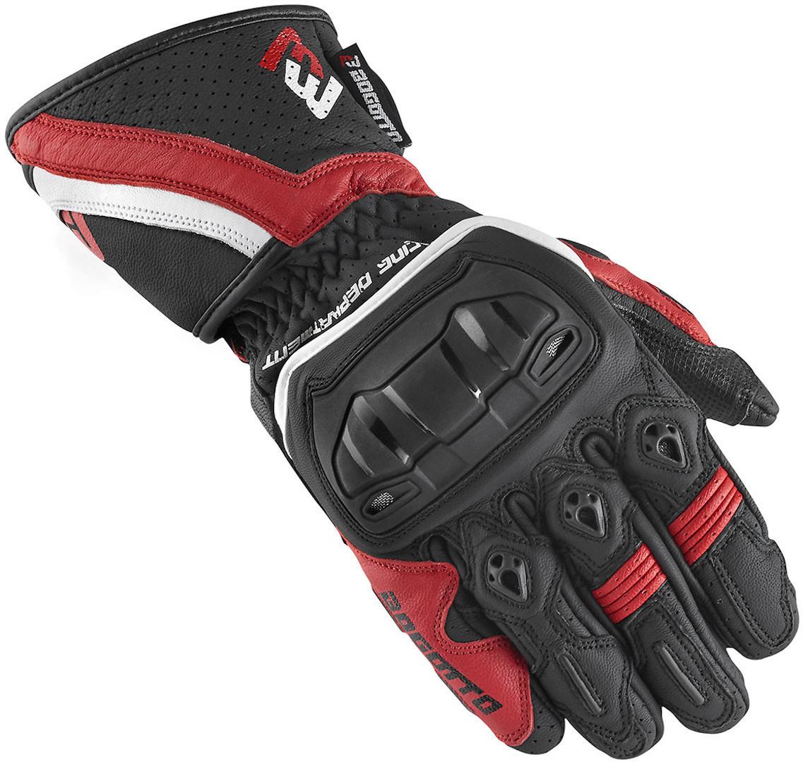 Bogotto Losail Motorradhandschuhe, schwarz-weiss-rot, Größe XS, schwarz-weiss-rot, Größe XS
