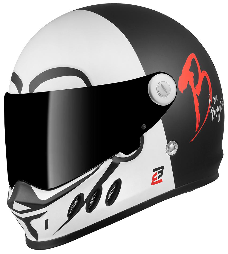 Bogotto SH-800 Mister X Helm, schwarz-weiss, Größe L, schwarz-weiss, Größe L