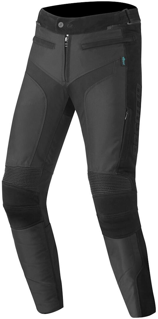 Bogotto Tek-M wasserdichte Motorrad Leder / Textilhose, schwarz, Größe S, schwarz, Größe S