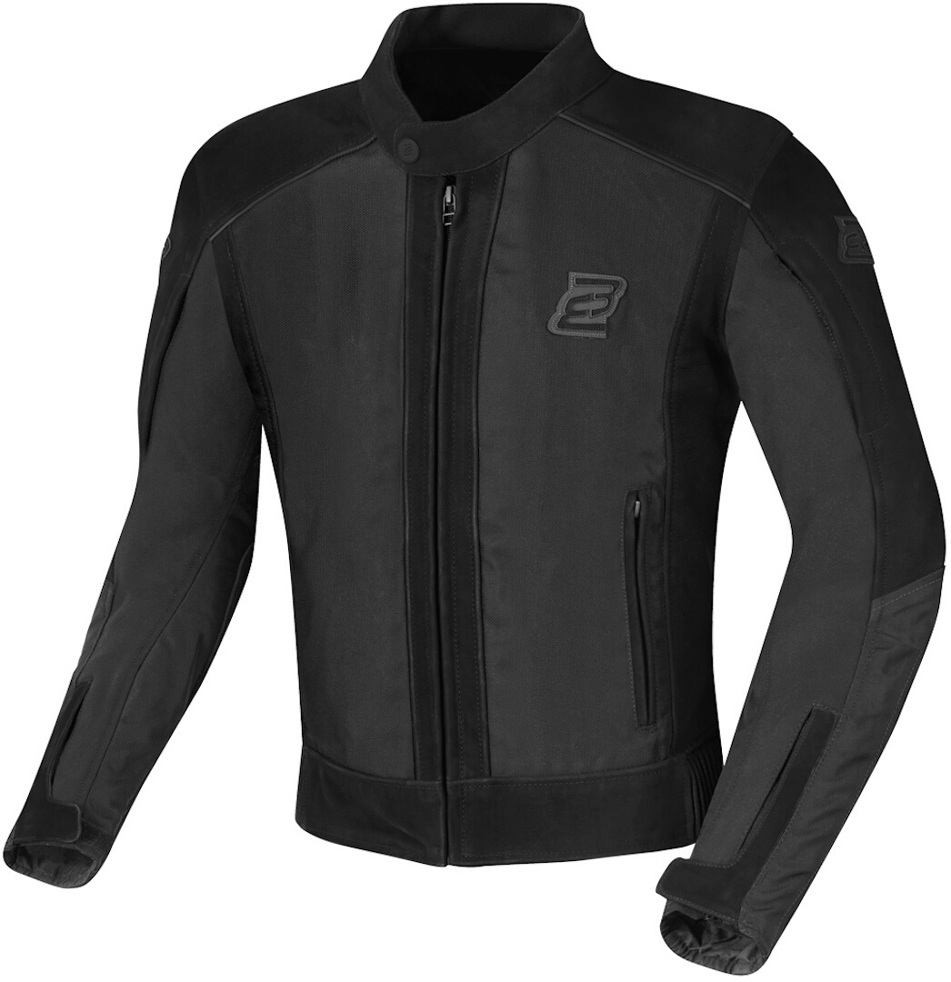 Bogotto Tek-M wasserdichte Motorrad Leder- / Textiljacke, schwarz, Größe 2XL, schwarz, Größe 2XL
