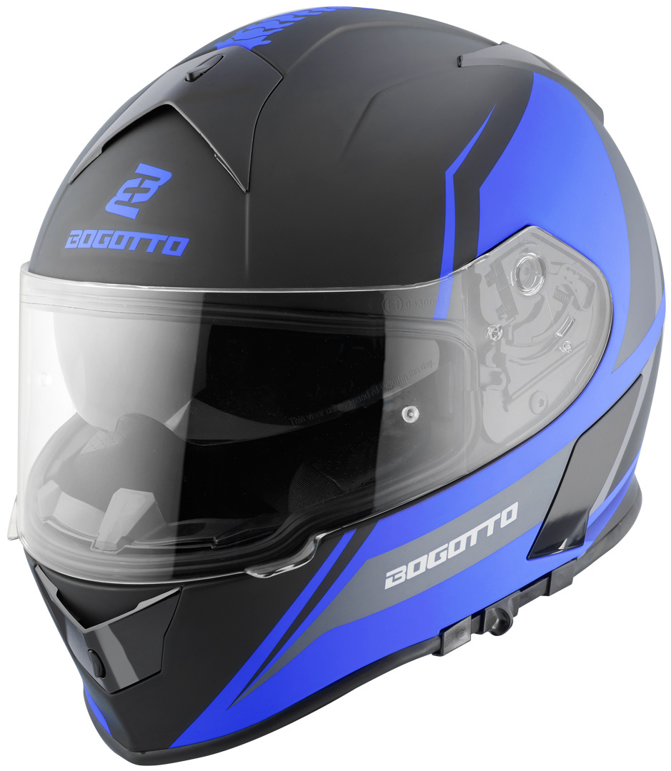Bogotto V126 G-Evo Helm, schwarz-blau, Größe M, schwarz-blau, Größe M