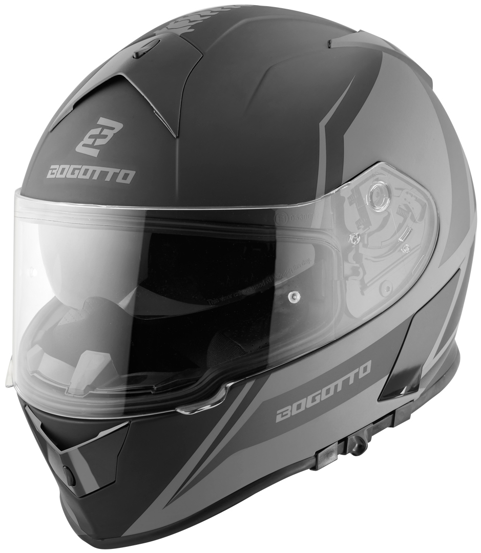 Bogotto V126 G-Evo Helm, schwarz-silber, Größe S, schwarz-silber, Größe S