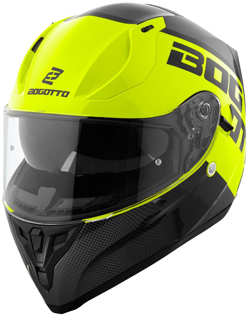 Bogotto V128 BG-X Helm, schwarz-gelb, Größe XL, schwarz-gelb, Größe XL