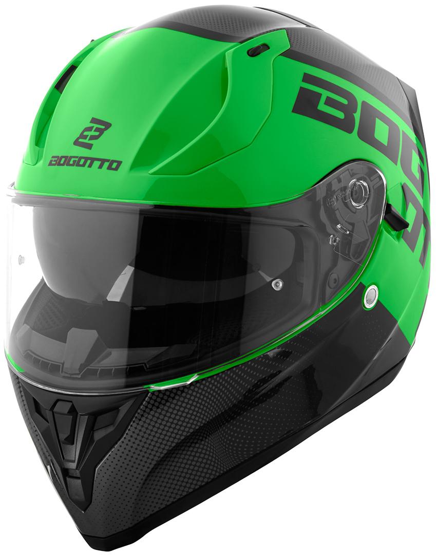Bogotto V128 BG-X Helm, schwarz-grün, Größe XL, schwarz-grün, Größe XL