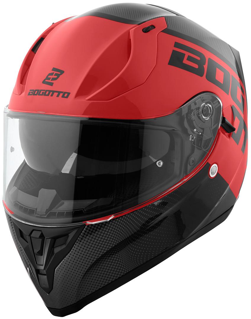 Bogotto V128 BG-X Helm, schwarz-rot, Größe L, schwarz-rot, Größe L