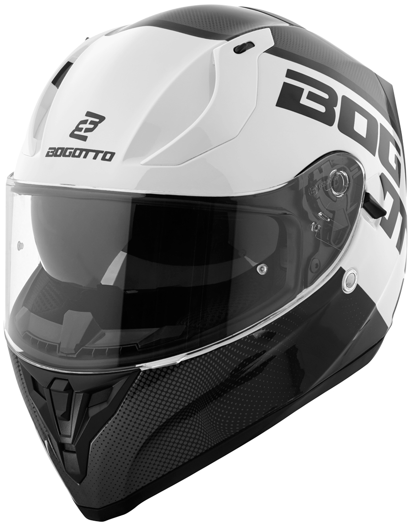 Bogotto V128 BG-X Helm, schwarz-weiss, Größe L, schwarz-weiss, Größe L