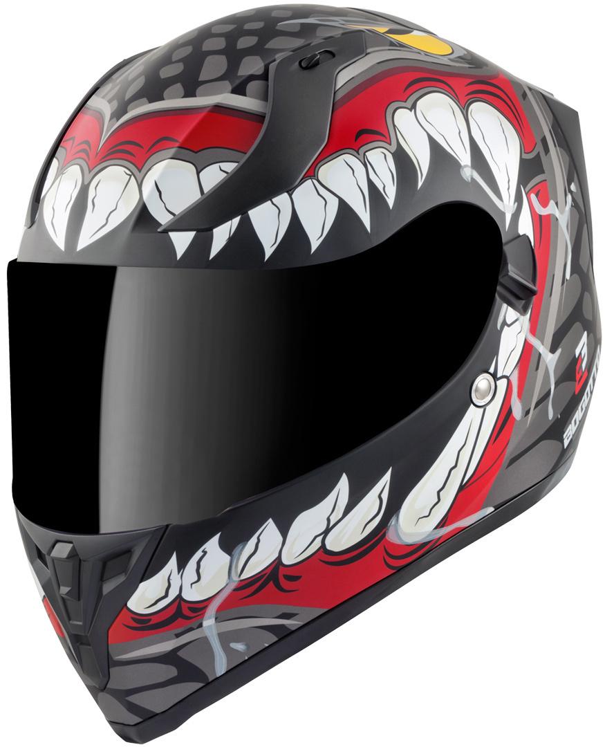 Bogotto V128 Naga Helm, schwarz-rot, Größe M, schwarz-rot, Größe M