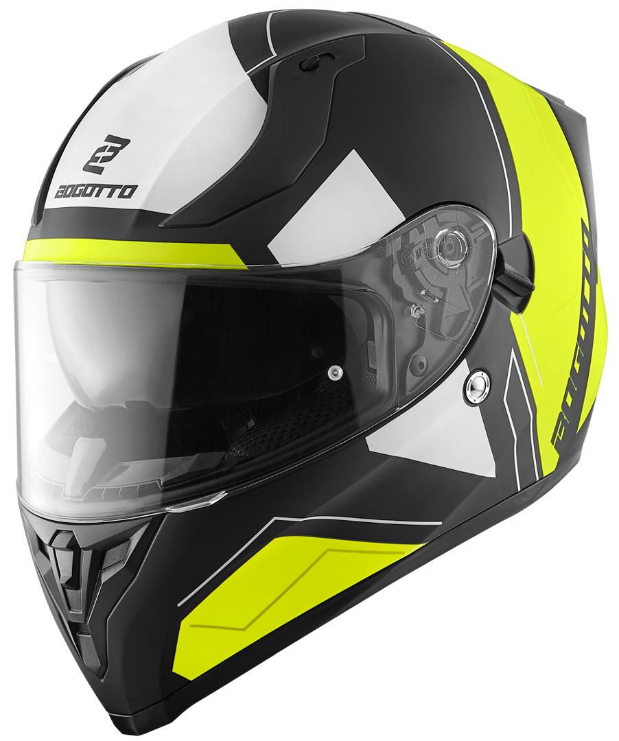 Bogotto V128 Strada Helm, schwarz-gelb, Größe S, schwarz-gelb, Größe S