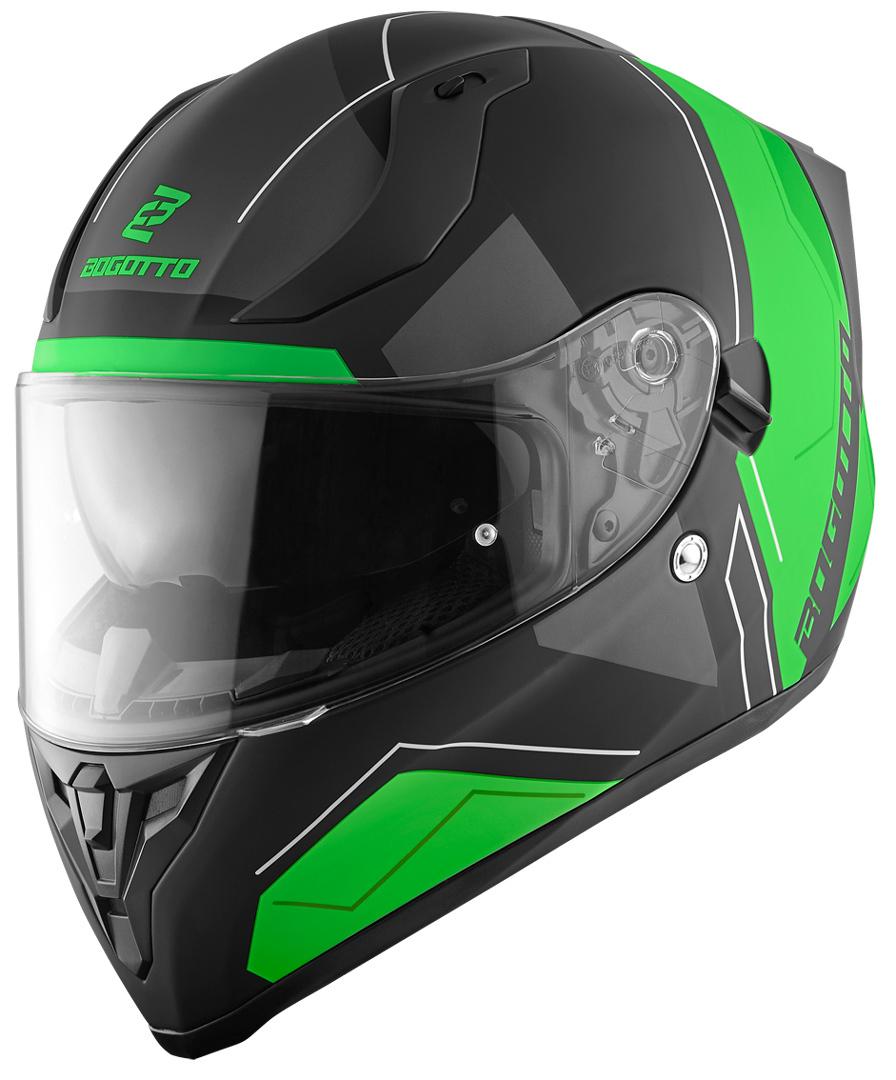 Bogotto V128 Strada Helm, schwarz-grün, Größe XS, schwarz-grün, Größe XS