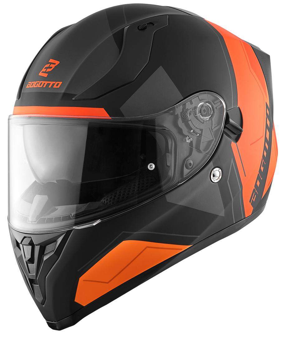 Bogotto V128 Strada Helm, schwarz-orange, Größe L, schwarz-orange, Größe L