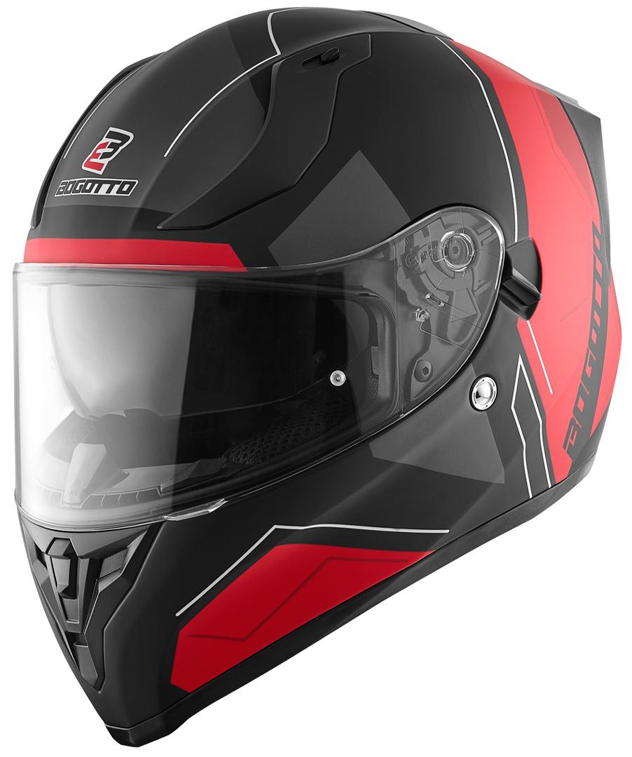 Bogotto V128 Strada Helm, schwarz-rot, Größe M, schwarz-rot, Größe M