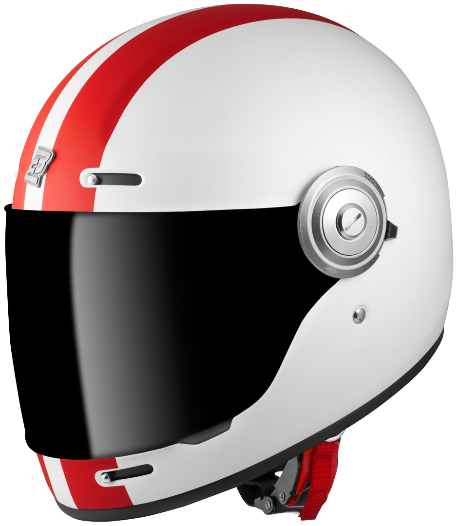 Bogotto V135 D-R2 Helm, weiss-rot, Größe S, weiss-rot, Größe S