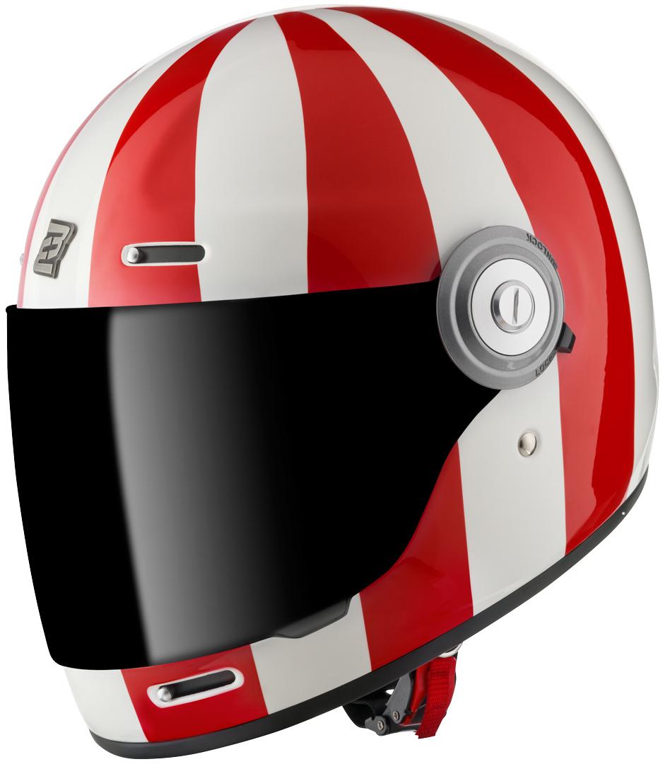 Bogotto V135 T-R3 Helm, weiss-rot, Größe S, weiss-rot, Größe S