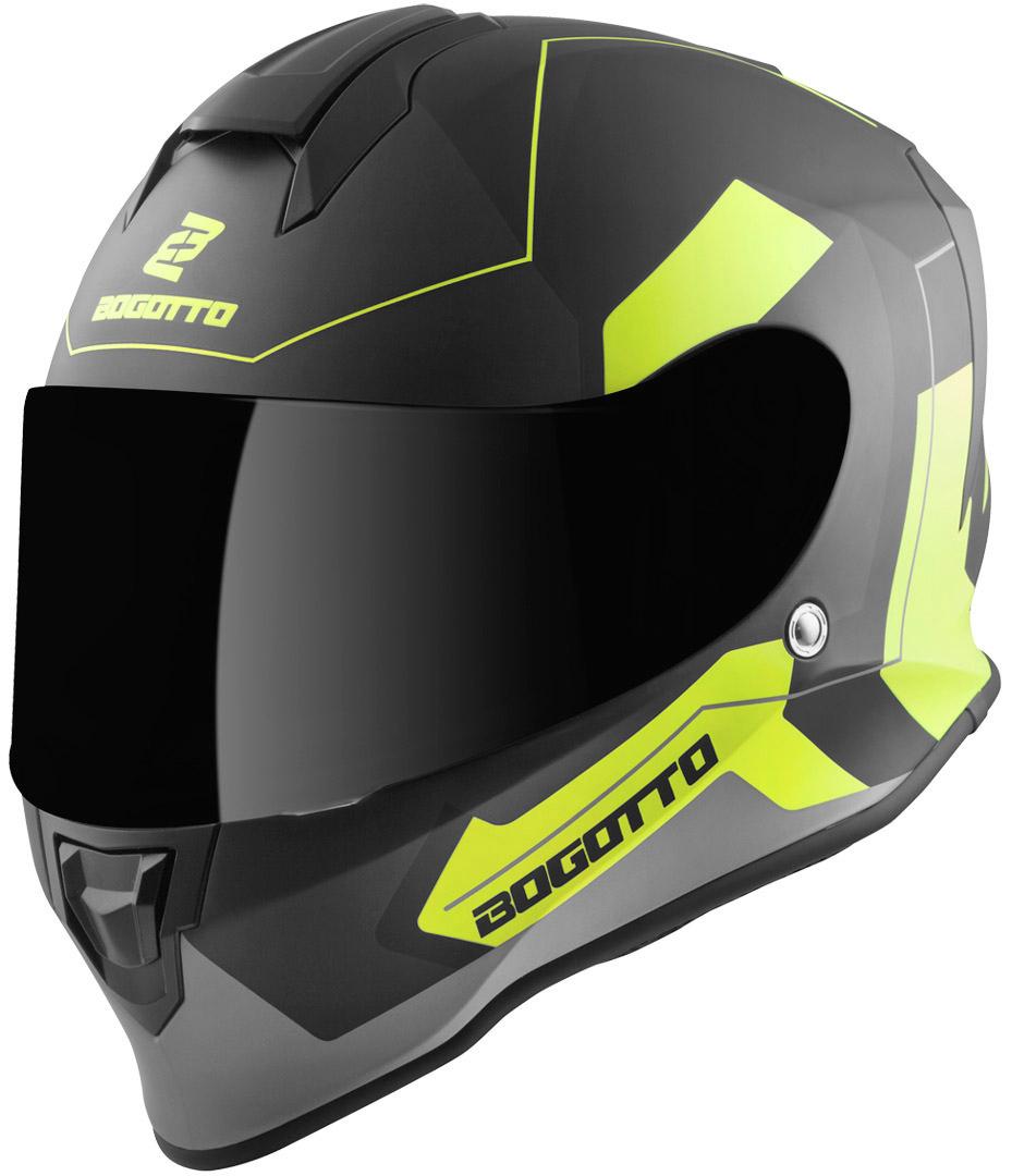 Bogotto V151 Sacro Helm, schwarz-gelb, Größe XL, schwarz-gelb, Größe XL