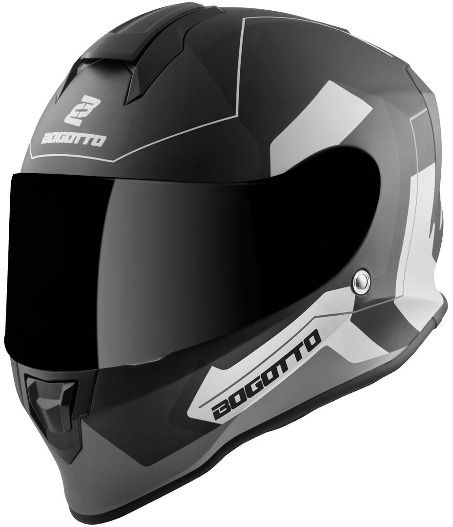 Bogotto V151 Sacro Helm, schwarz-grau, Größe S, schwarz-grau, Größe S