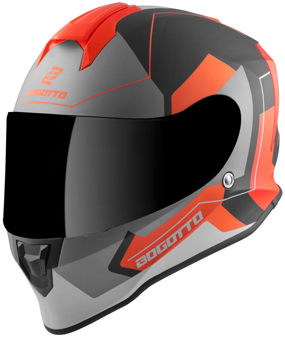 Bogotto V151 Sacro Helm, schwarz-orange, Größe M, schwarz-orange, Größe M