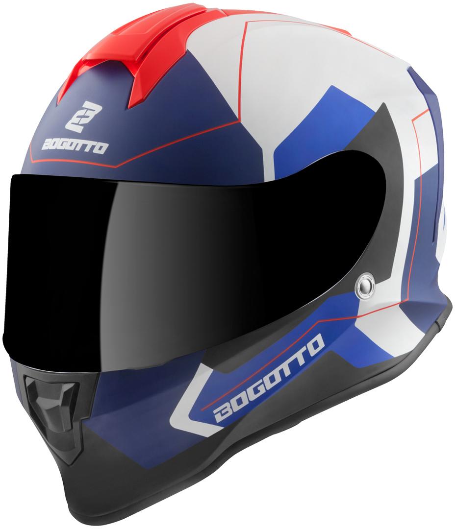 Bogotto V151 Sacro Helm, weiss-rot-blau, Größe XL, weiss-rot-blau, Größe XL