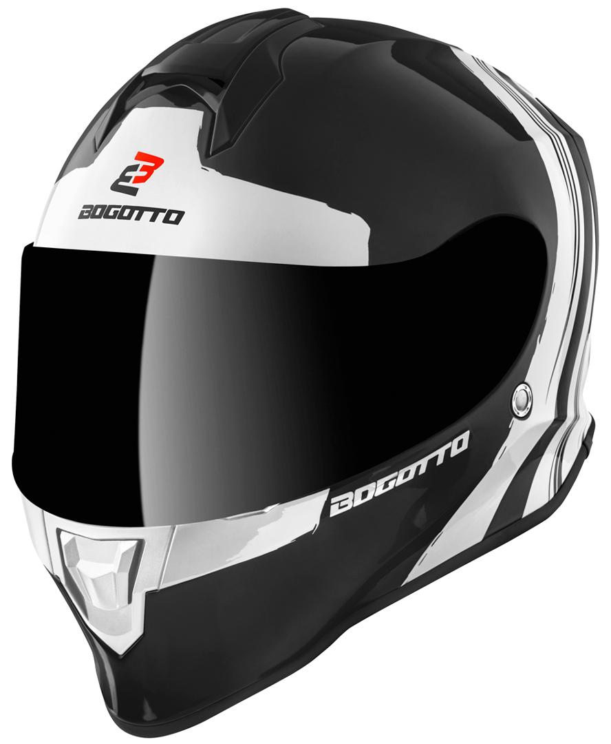 Bogotto V151 Wild-Ride Helm, schwarz-weiss, Größe M, schwarz-weiss, Größe M