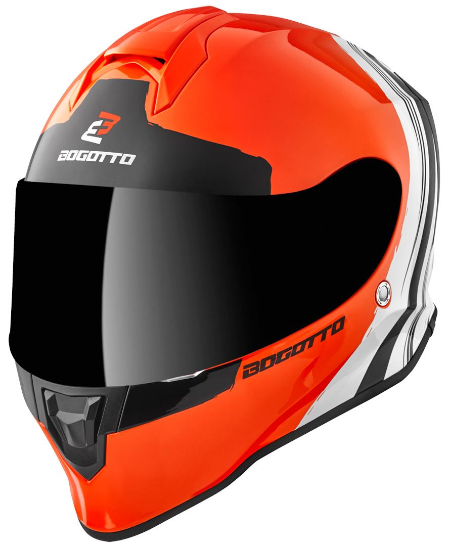 Bogotto V151 Wild-Ride Helm, schwarz-weiss-orange, Größe XL, schwarz-weiss-orange, Größe XL