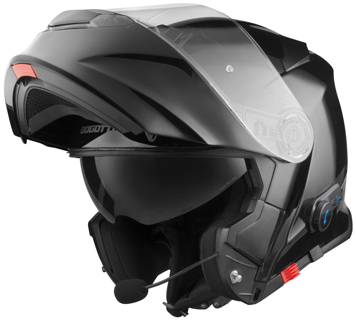 Bogotto V271 BT Bluetooth Klapphelm, schwarz, Größe 2XL, schwarz, Größe 2XL
