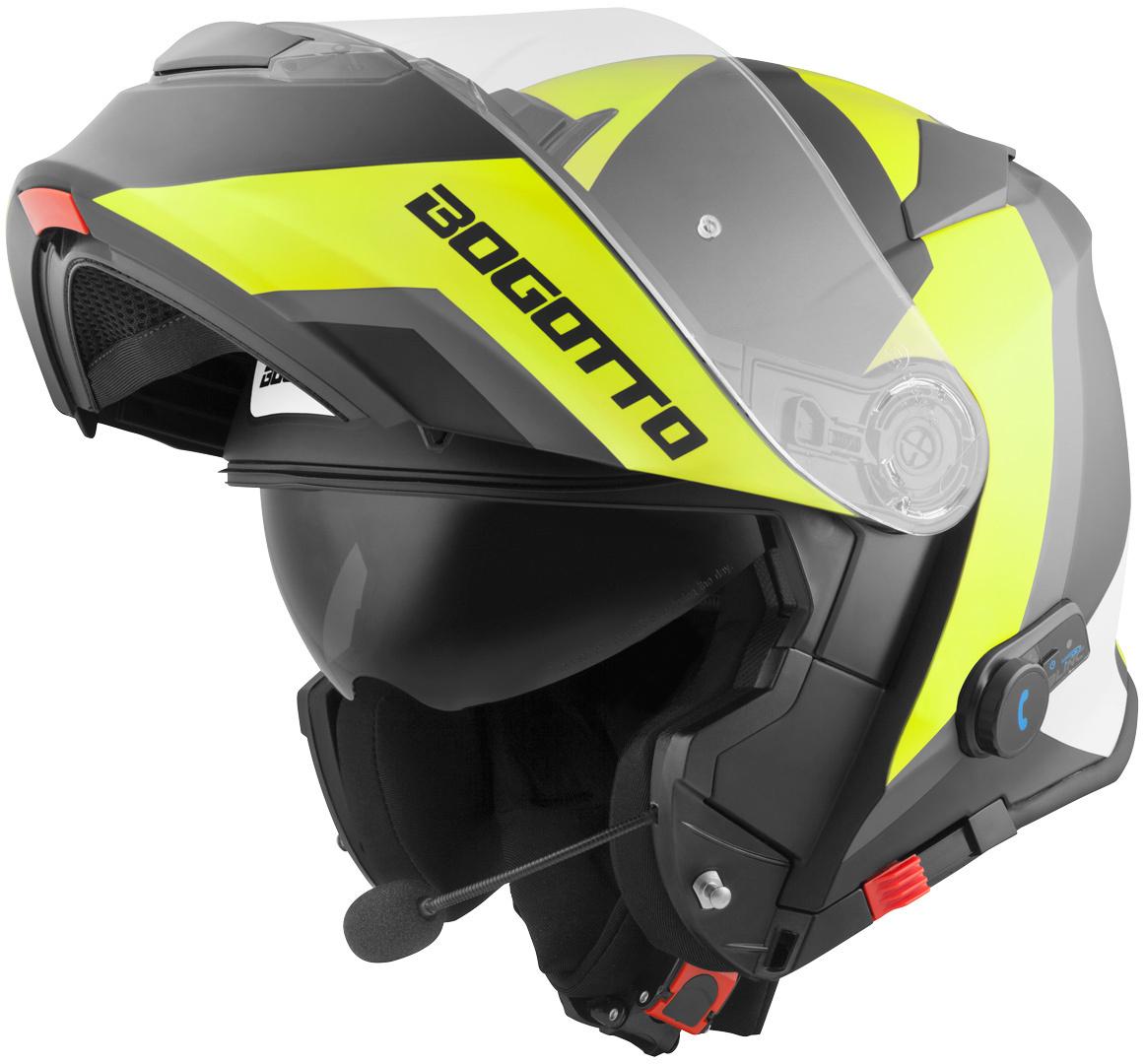 Bogotto V271 BT Zabu Bluetooth Klapphelm, schwarz-gelb, Größe XS, schwarz-gelb, Größe XS