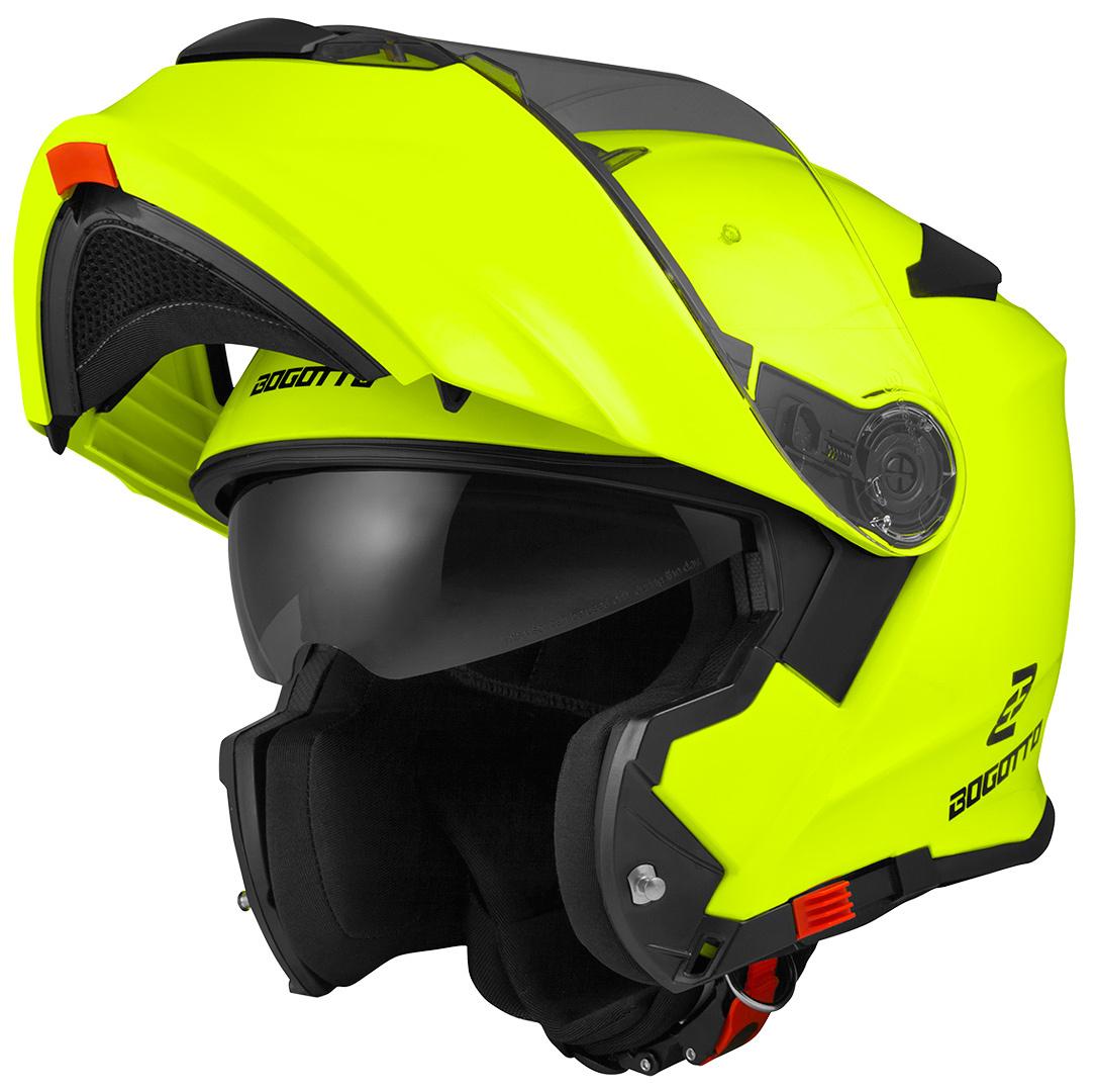 Bogotto V271 Motorrad Klapphelm, gelb, Größe M, gelb, Größe M