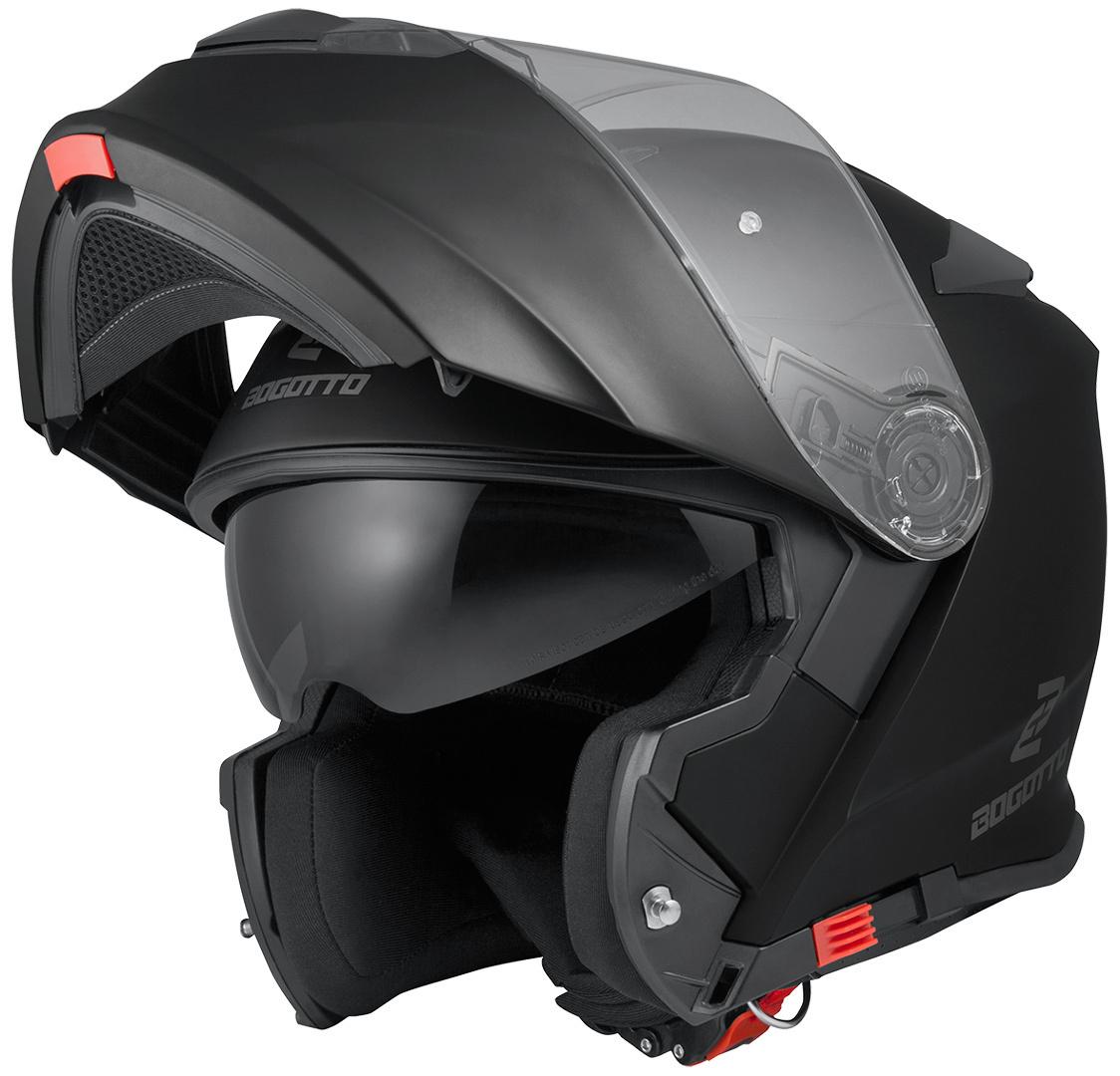 Bogotto V271 Motorrad Klapphelm, schwarz, Größe L, schwarz, Größe L