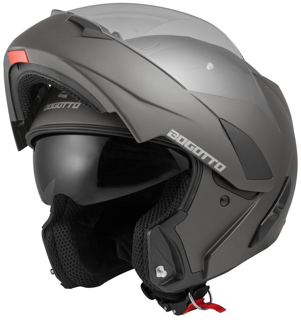 Bogotto V280 Klapphelm, schwarz-grau, Größe XS, schwarz-grau, Größe XS