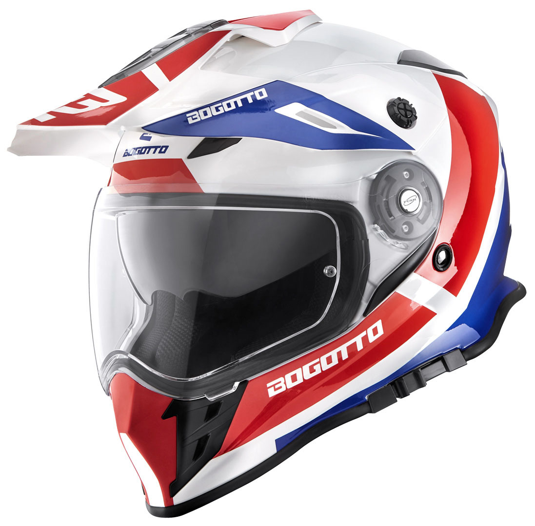 Bogotto V331 Pro Tour Endurohelm, rot-blau, Größe XS, rot-blau, Größe XS