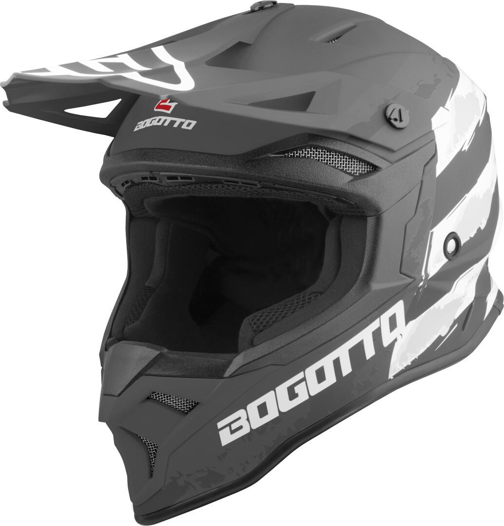 Bogotto V337 Wild-Ride Motocross Helm, schwarz-weiss, Größe XL, schwarz-weiss, Größe XL