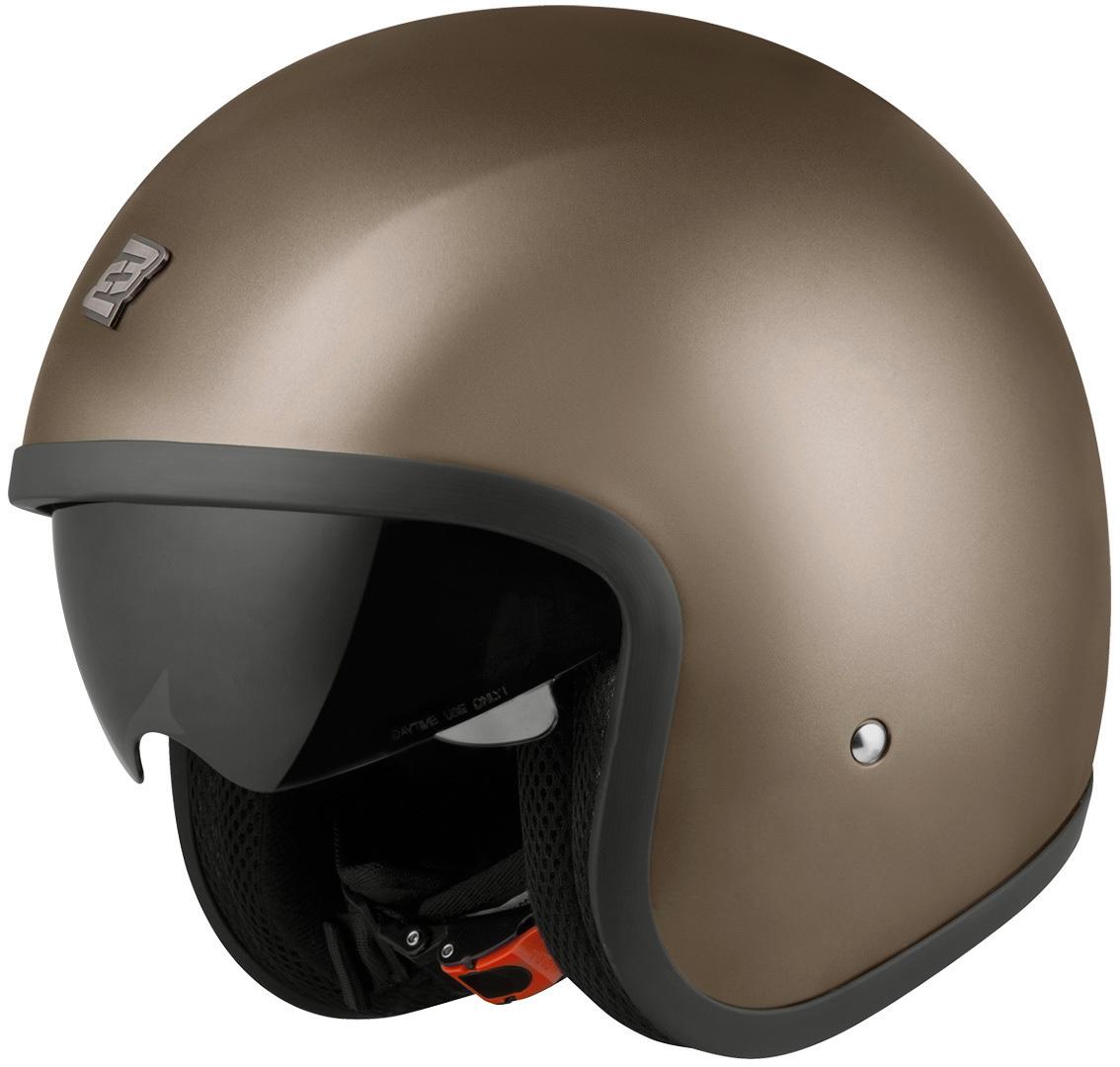 Bogotto V537 Solid Jethelm, braun, Größe M, braun, Größe M