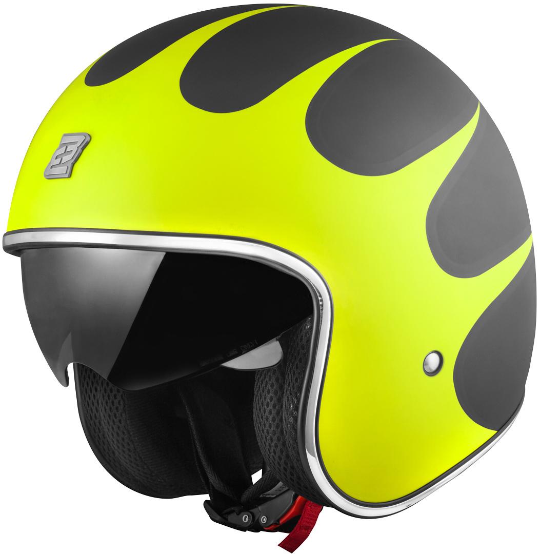 Bogotto V537 Wogi Jethelm, schwarz-gelb, Größe S, schwarz-gelb, Größe S