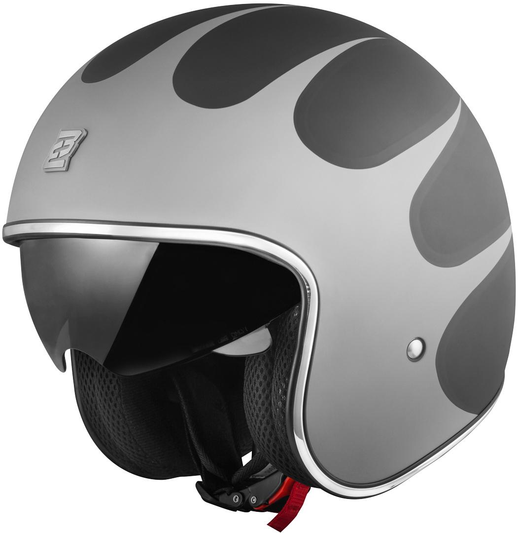 Bogotto V537 Wogi Jethelm, schwarz-silber, Größe S, schwarz-silber, Größe S