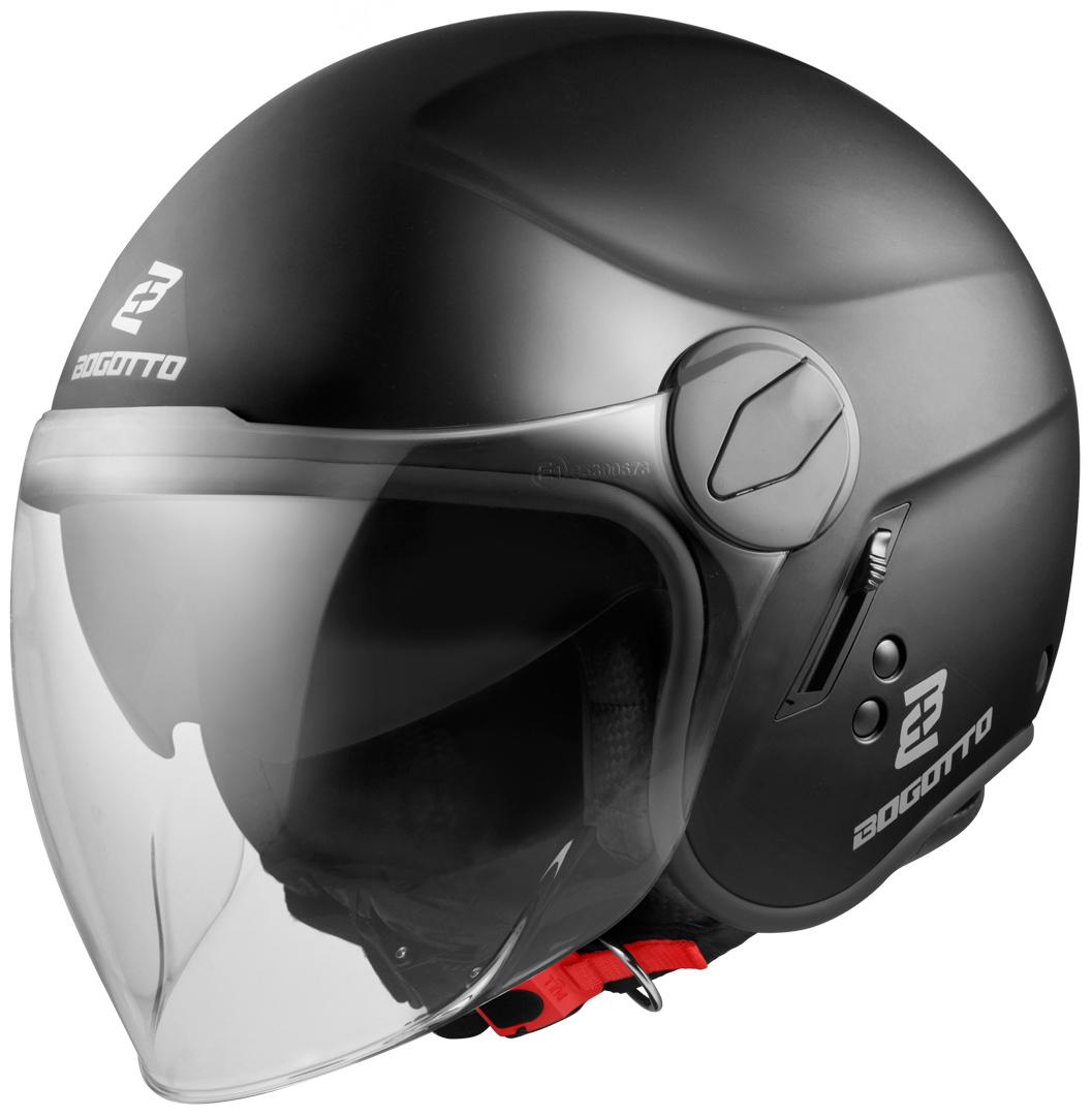 Bogotto V595-1 Jethelm, schwarz, Größe L, schwarz, Größe L