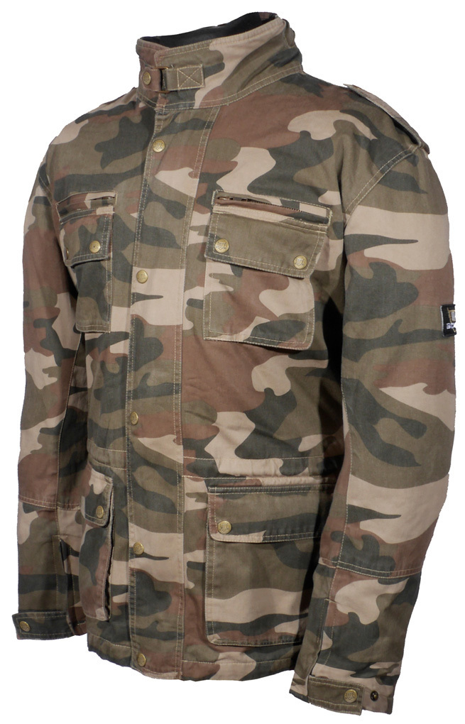 Bores B-69 Military Camo Motorrad Textiljacke, mehrfarbig, Größe 4XL, mehrfarbig, Größe 4XL