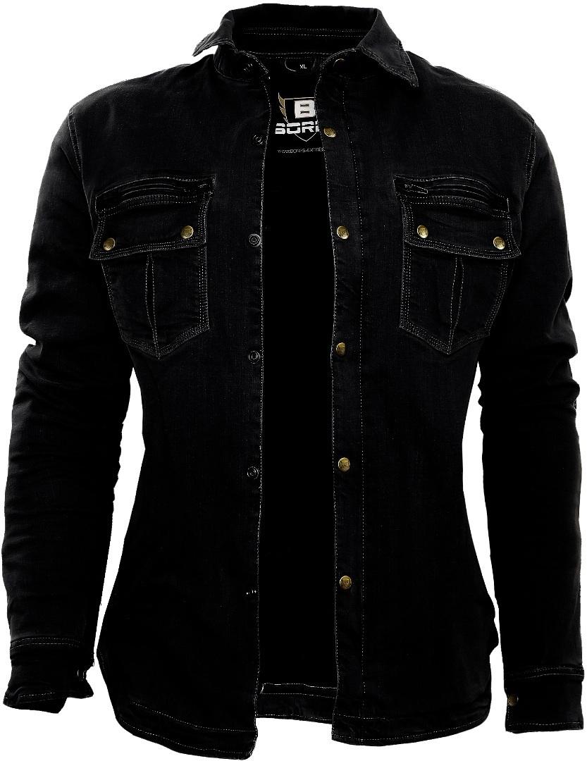 Bores Driver Damen Motorrad Hemd, schwarz, Größe 3XL, schwarz, Größe 3XL