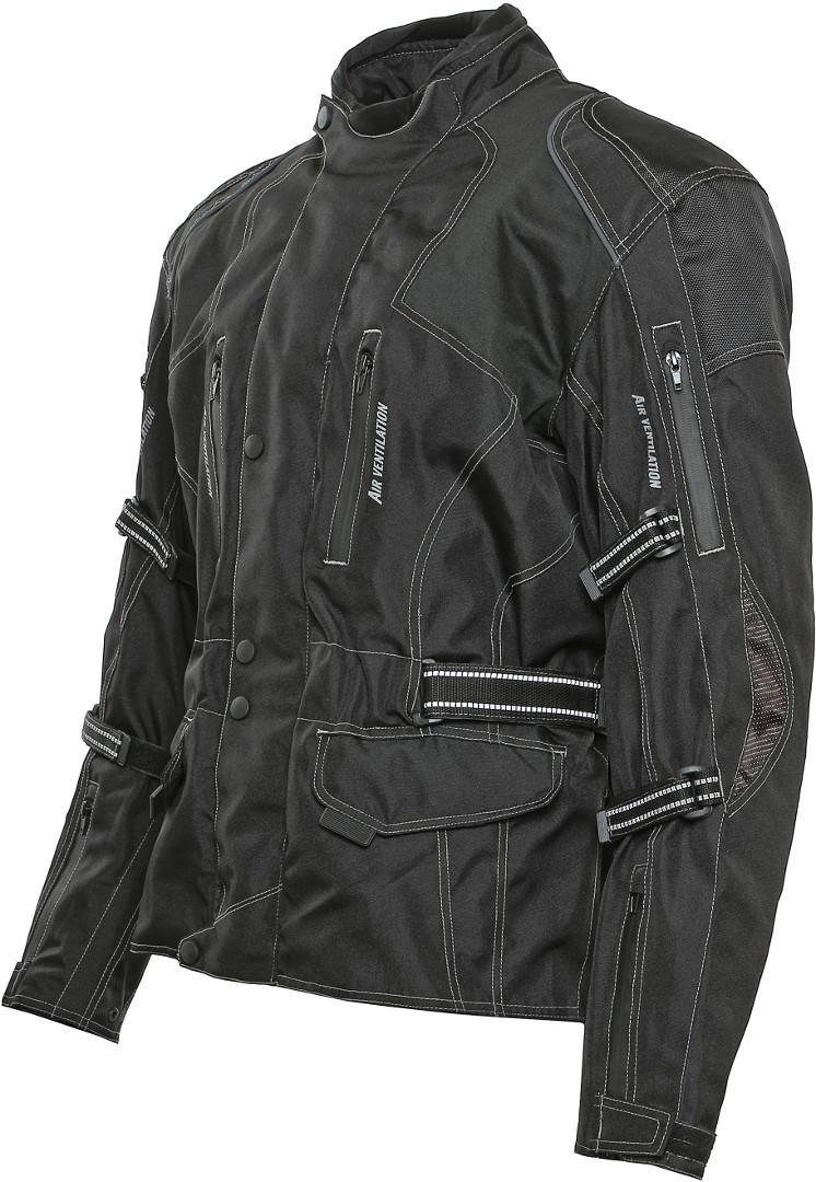 Bores Emilio Touring Motorrad Textiljacke, schwarz, Größe M, schwarz, Größe M