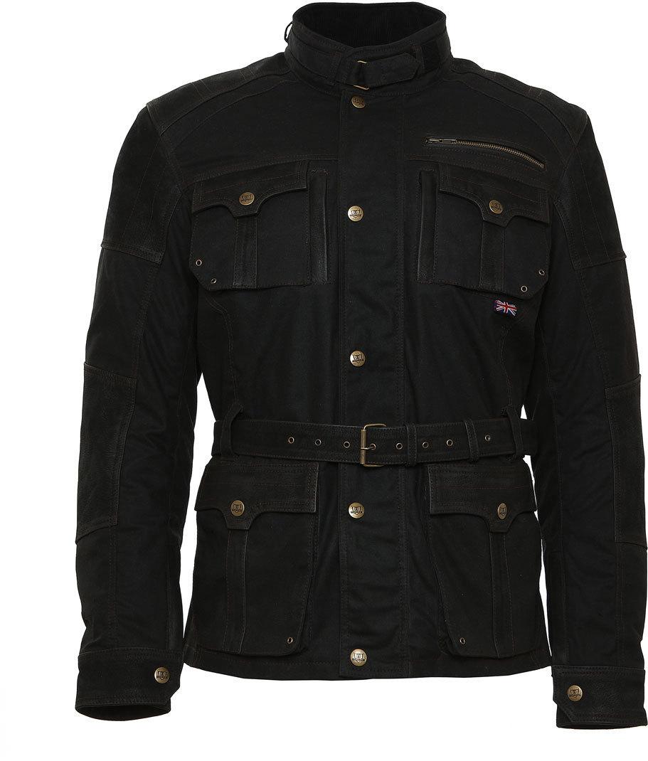 Bores Gregory Motorrad Wachsjacke, schwarz, Größe 3XL, schwarz, Größe 3XL
