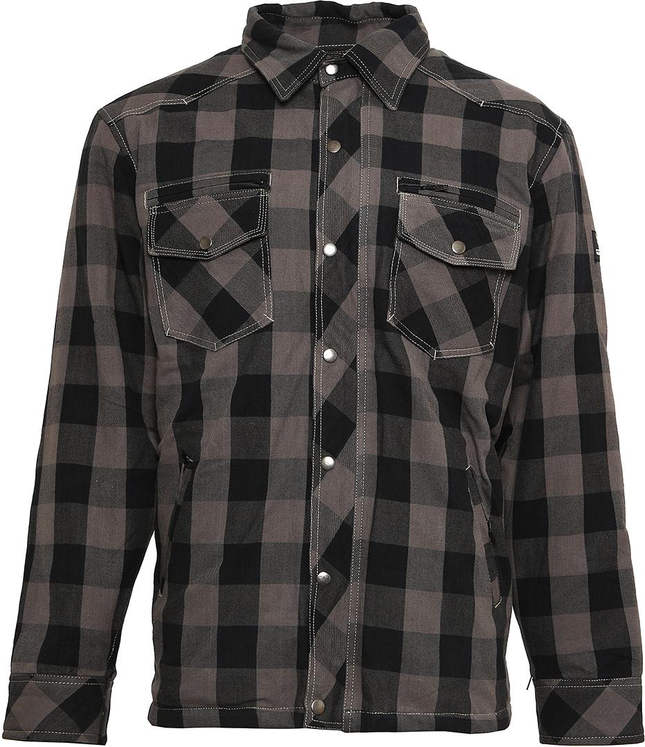 Bores Lumberjack Shirt, schwarz-grau, Größe S, schwarz-grau, Größe S