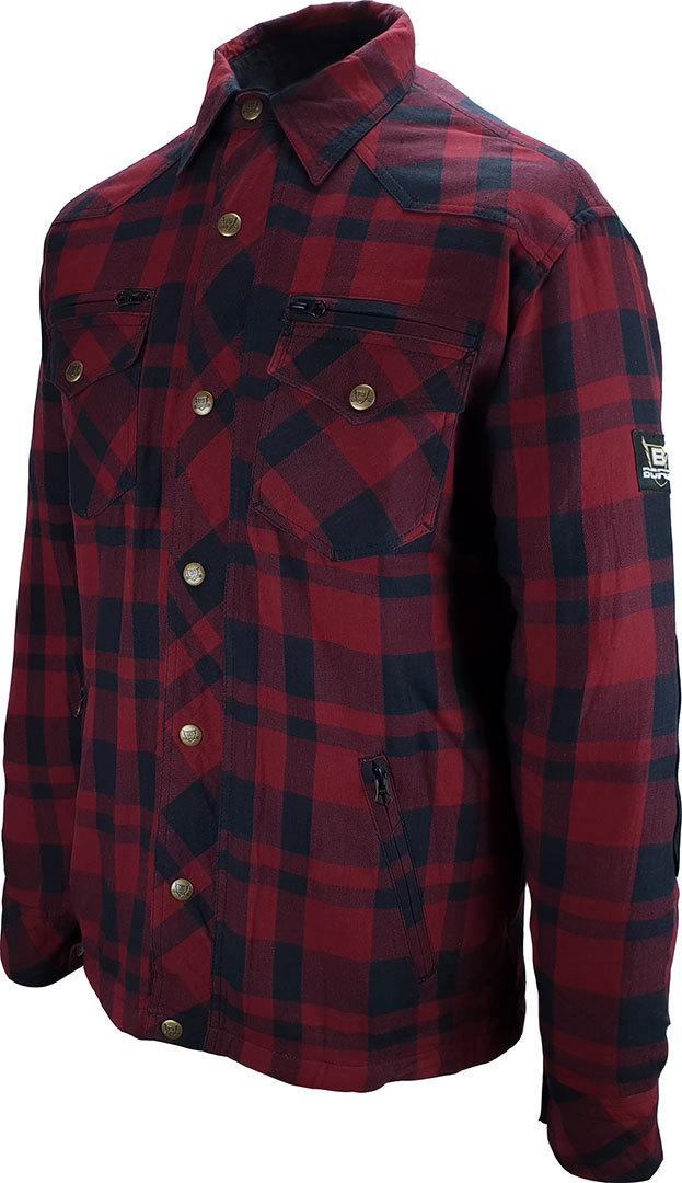 Bores Lumberjack Shirt, schwarz-rot, Größe 2XL, schwarz-rot, Größe 2XL