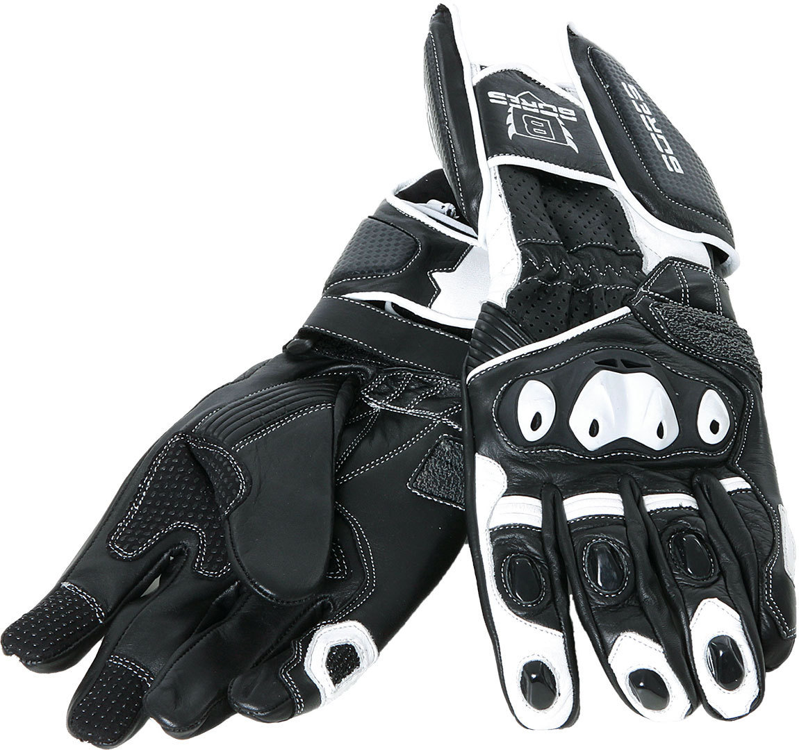 Bores Race Handschuhe, schwarz-weiss, Größe M L, schwarz-weiss, Größe M L