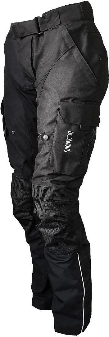 Bores Shanon Damen Motorrad Textilhose, schwarz, Größe 40, schwarz, Größe 40