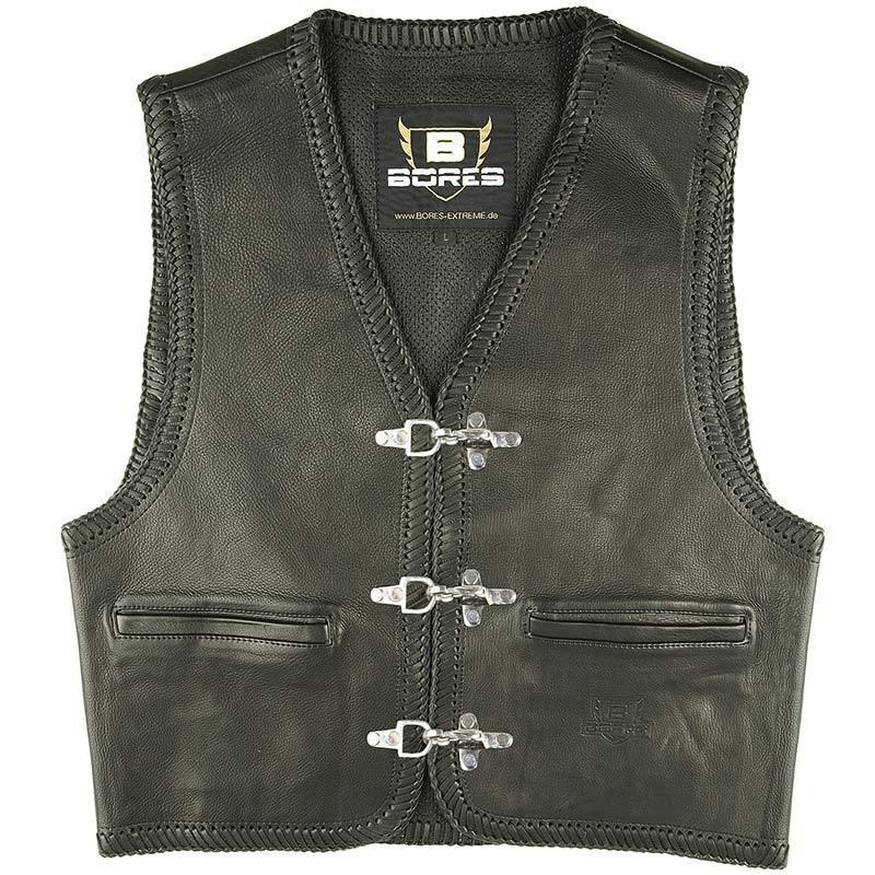 Bores Sunride 1 Lederweste, schwarz, Größe 4XL, schwarz, Größe 4XL